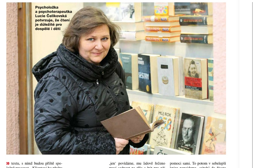 Rozhovor Lucie Čelikovské pro týdeník Květy na téma čtenářství